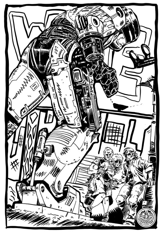 Coloring Pages Man In Car Coloring Books For Adults Coloring Pages For Adults Robot Cop