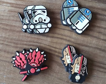 16 STAR WARS GLASS CABOCHONS 12MM-FLATBACK//JEWELLERY//CABOCHON-DARTH VADER//BB8
