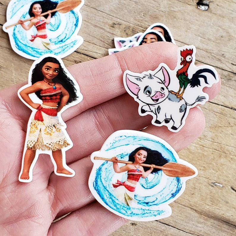 Minnie Ears Resin Flatback Bow Supply Supplies Character Brooches Planar Resin Embellishment Set of 2 Moana