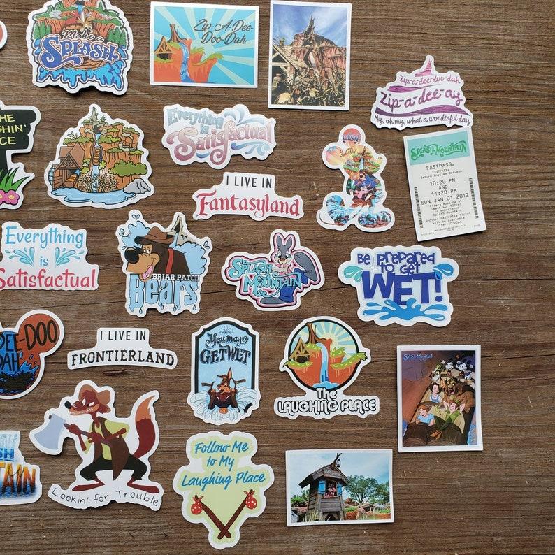 Party Supply Brer Bear Brer Fox Brer Rabbit Stickers 50 pcs Splash Mountain Sticker Pack Vinyl Stickers Scrapbooking