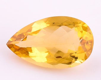 Quality 100/% Natural African Citrine Quartz Pear Shape Faceted Cut Stone Loose Gemstone For Making Jewelry Calibrated Size 25X15X10 mm AAA