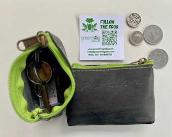 Upcycled Innertube Coin Pouch And Purse Handmade From 100% Recycled  Pre-Loved Vintage Mountain Bike Tubes