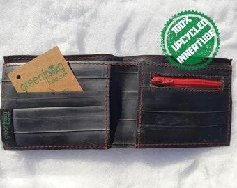 Upcycled Bicycle Innertube Vegan Wallet Handmade From 100% Recycled  Pre-Loved Vintage Mountain Bike Tubes