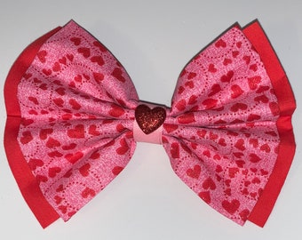 Valentine's Day BOW for pet's collar or harness, or fo girl's hair clip, hair tie, or girl's headband, or men's neck strap