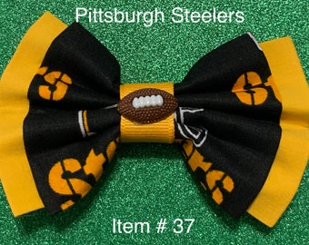Pittsburgh Steelers Football BOW for Pet Collar or Harness, Girl Headband, Hair Clip or Hair Tie, or Men's NecknTie