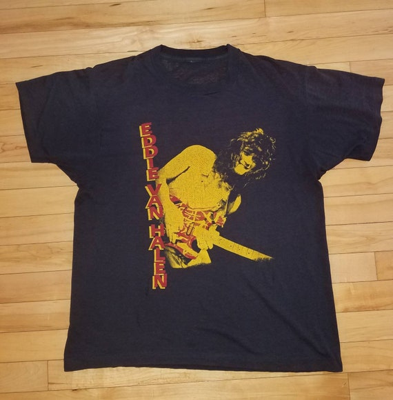 Vintage Eddie Van Halen T Shirt Paper Thin