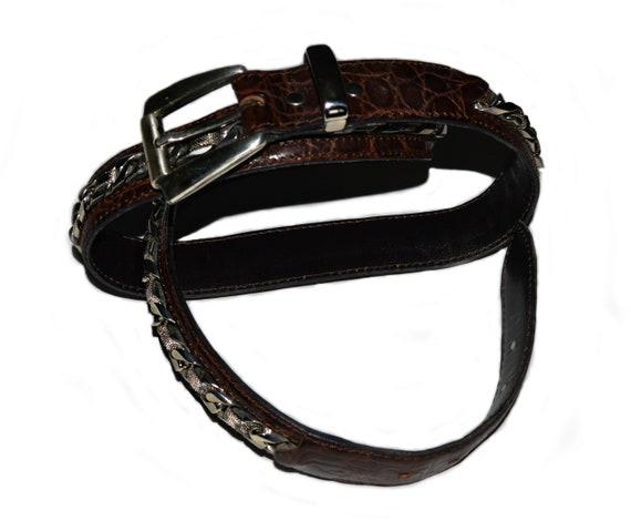 Nanni Milano Rare handmade exotic leather belt