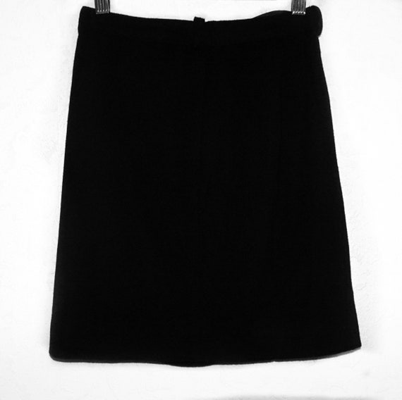 Chanel A-line wool skirt