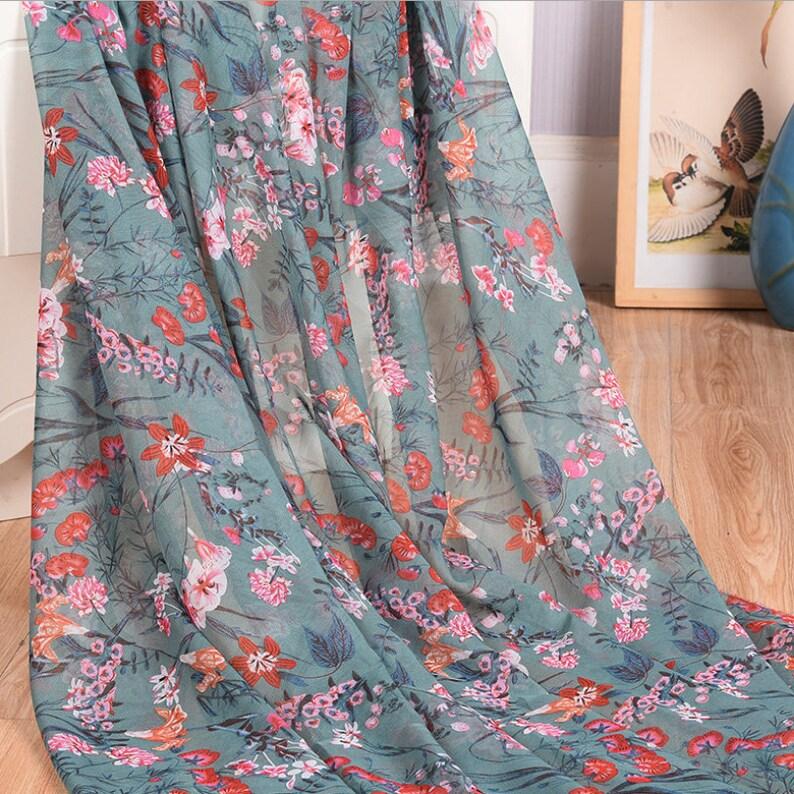 Dress Fabric Simple Floral Leaf Fabric Printed Polyester Fabric Camisole Cloth Pajama Fabric Chiffon Fashion Cloth