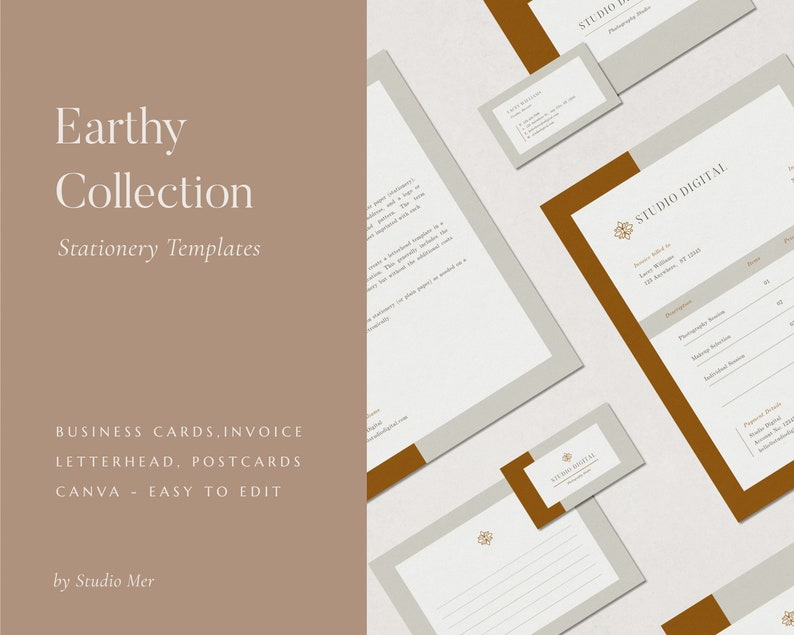 Stationery Templates  Canva Templates  Business Cards  image 0