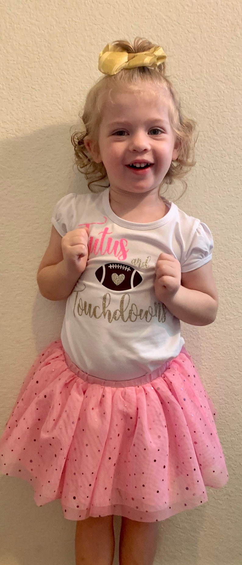 Tutus and Touchdowns toddler tshirt