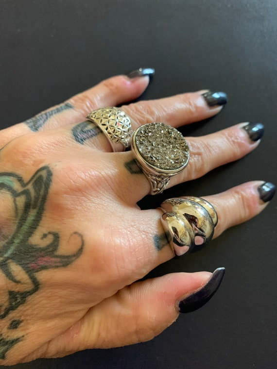 Fist full of silver vintage never worn cocktail ri