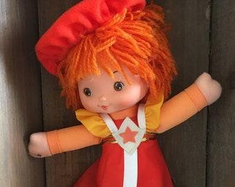 Vintage Rainbow Brite La La Orange Doll and Friend