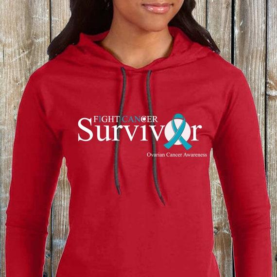 Cancer Survivor Ovarian Cancer Hoodies Ladies Etsy