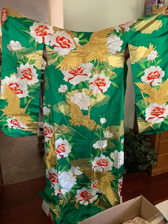 Rare 1930's Japanese Kimono Hand Stitched