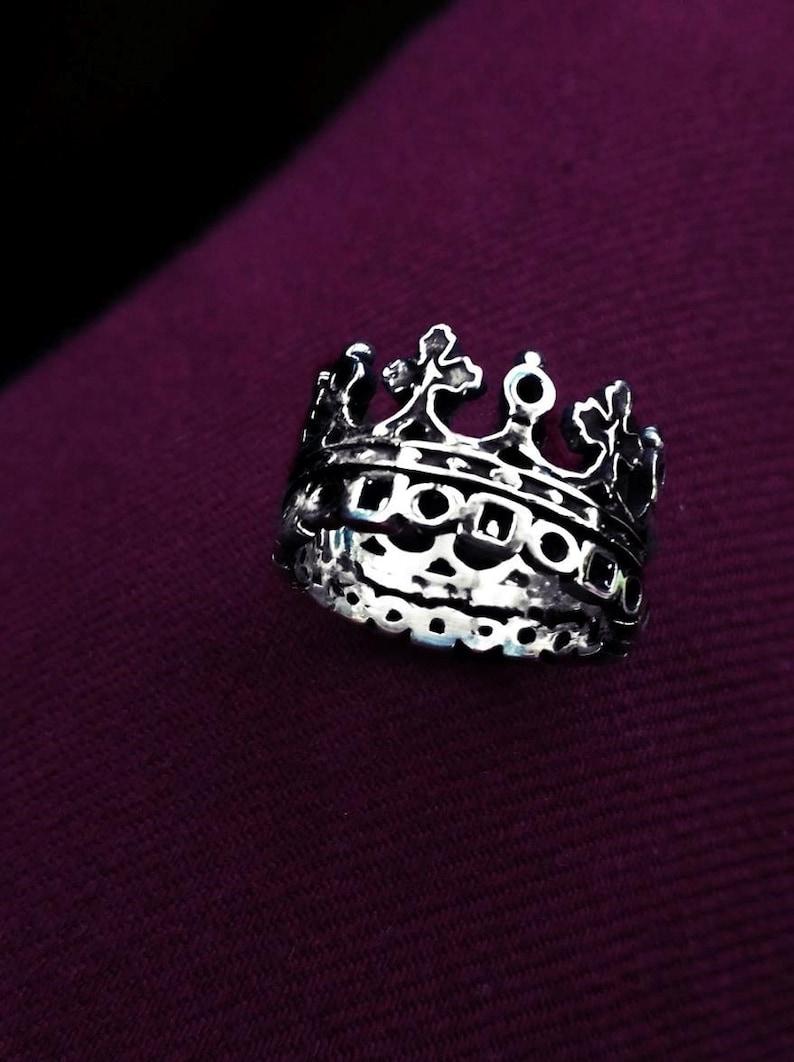 Unique Crown Silver Jewelry Crown Giftanti Tiara Ring King Crown Ring Royalty Filigree Ring Handcrafted Crown Ring Antique Crown Ring