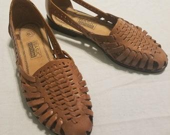 29d4989ea961a 90s leather sandals   Etsy