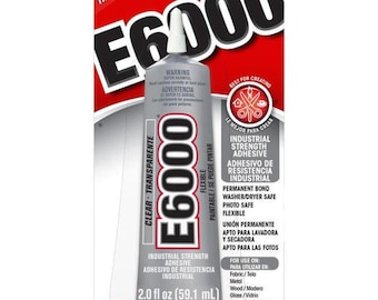 E6000 Clear Multipurpose Industrial Strength Adhesive - 1 or 2 oz