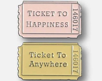 Ticket to... Enamel Pins