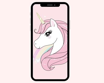 Unicorn Wallpaper | Pink Unicorn | iPhone Wallpaper | Aesthetic Wallpapers | Unicorns | Girly iPhone Wallpaper | Smart Phone Wallpapers