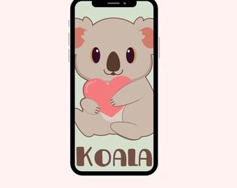 Koala Wallpaper, Cute iPhone Wallpaper, Koala Bear, Aesthetic Wallpapers, Animal Wallpaper, Girly iPhone Wallpaper, Smart Phone Wallpapers