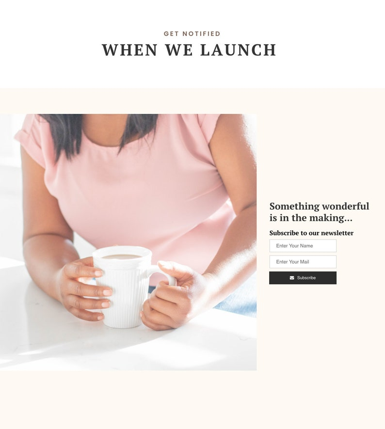 Shopify Landing Page Shopify Template Coming Soon Shopify Page Launching Soon Landing Page Website Launch Under Maintenance