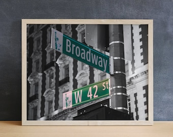 Broadway Street Sign Photography Print, Actor Gifts, New York Photography, Musical Theater Gift, New York City Art