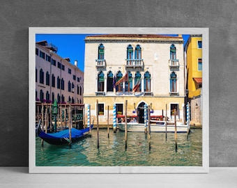 Venice Canal Print, Modern Wall Art, Italian Gondola, Photography Print, Venice Italy Decor