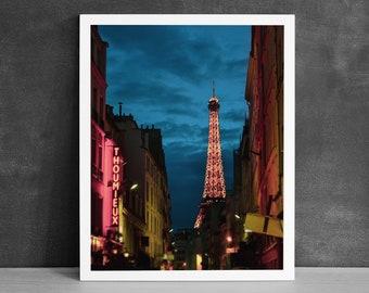 Eiffel Tower Photography Print, Office Wall Art, Paris Cityscape, Wanderlust Gift, France Street Art