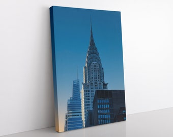 Chrysler Building Canvas Print, Office Wall Art, New York Photography, Modern Home Decor, Art Deco NYC