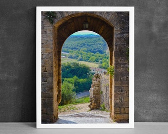 Italian Doorway Photography Print, Rustic Home Decor, Tuscan Landscape, Gifts from Italy, Prints of Tuscany