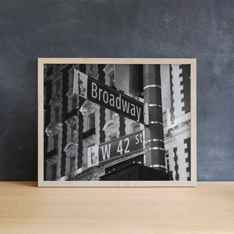 Broadway Print New York Photography Black & White Print image 0