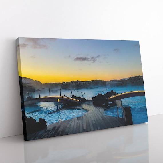 acrylic on canvas Blue Lagoon ICELAND