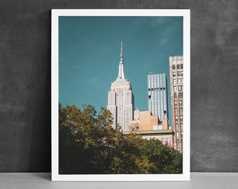 Empire State Photography Print, Office Wall Art, New York City Print, Bedroom Wall Decor, Skyscrapers Print