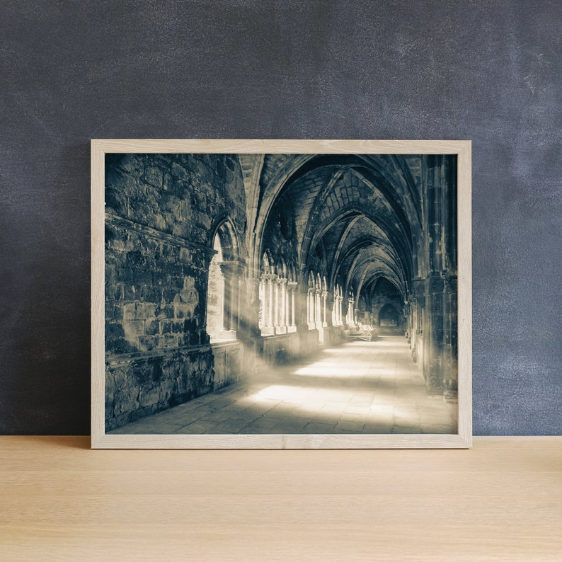 European Church Print Office Wall Art Lisbon Print image 0