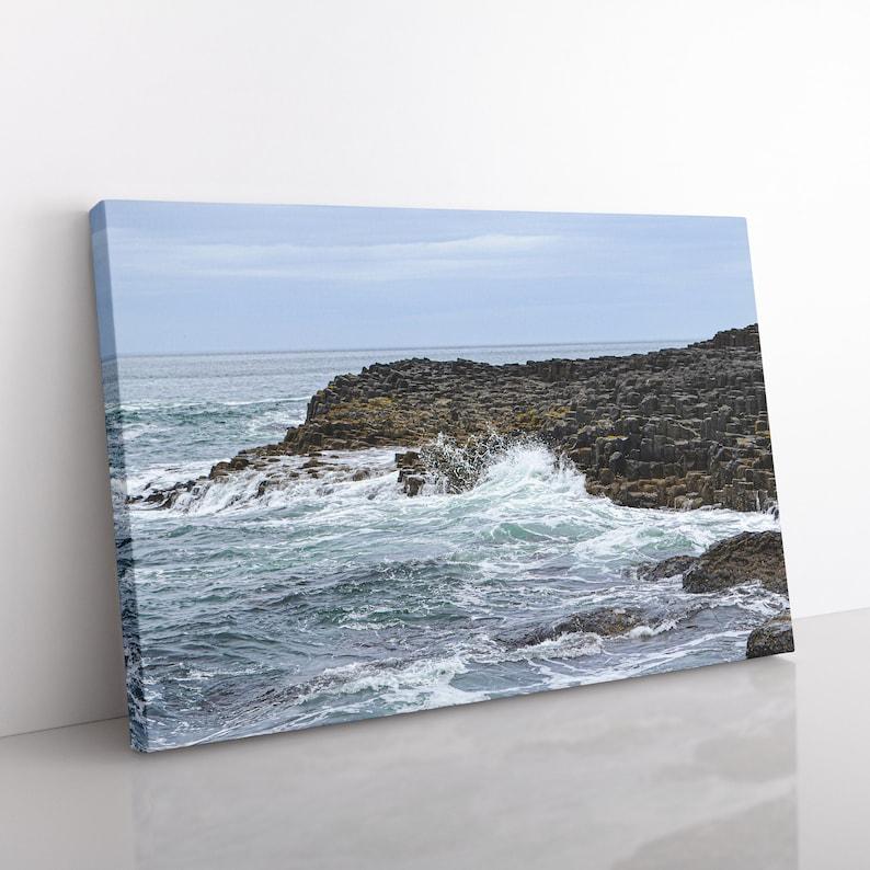 Giant's Causeway Canvas Print Nature Photography Ireland image 0