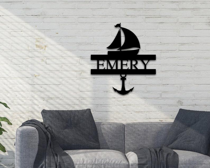 Name Sign boat home decor Custom Sign Custom Metal Ship Sign Wall hanging sea sign,Custom wall sign Christmas gift Xmas gift,sea art