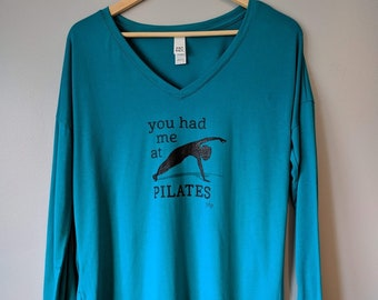 Long Sleeved Teal Blue Top   Your Daily Practice