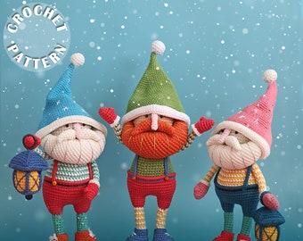 Crochet pattern Mr. Gnome| Christmas crochet pattern| Amigurumi Crochet | PDF pattern| written and step by step photos| Crochet  lantern