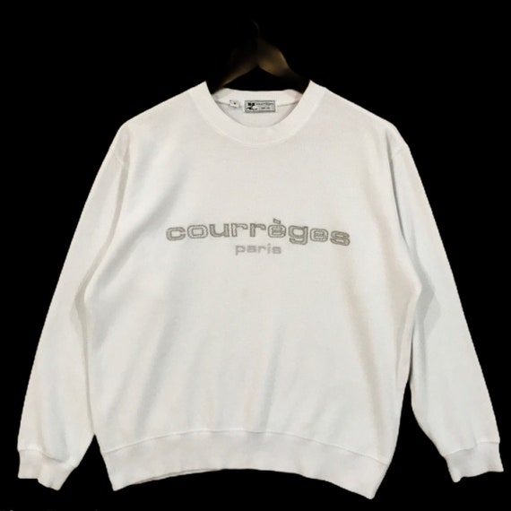Vintage Courreges Paris Embroidered Spellout Sweat