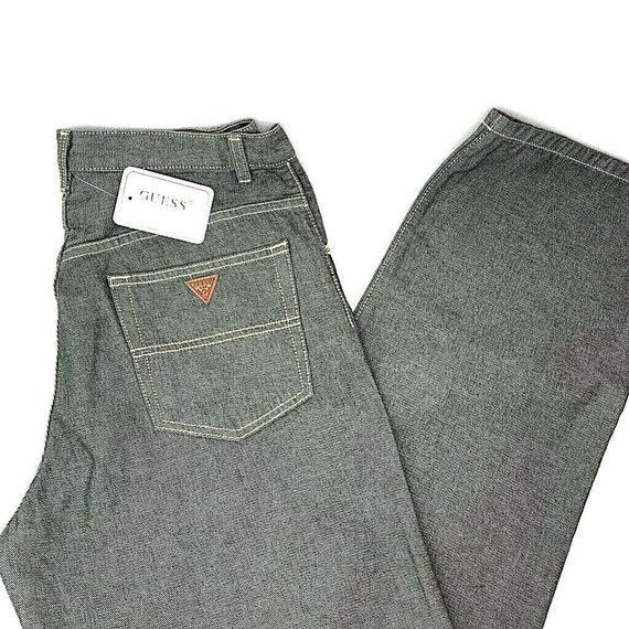 Guess Jeans Mens Urban Fit Jeans Vintage 90s Gray