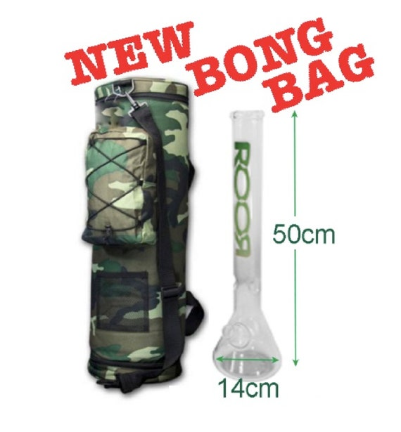 Protective Glass bong bag Tall Luxury camouflage Padded and felt lined shoulder carry strap tote backpack