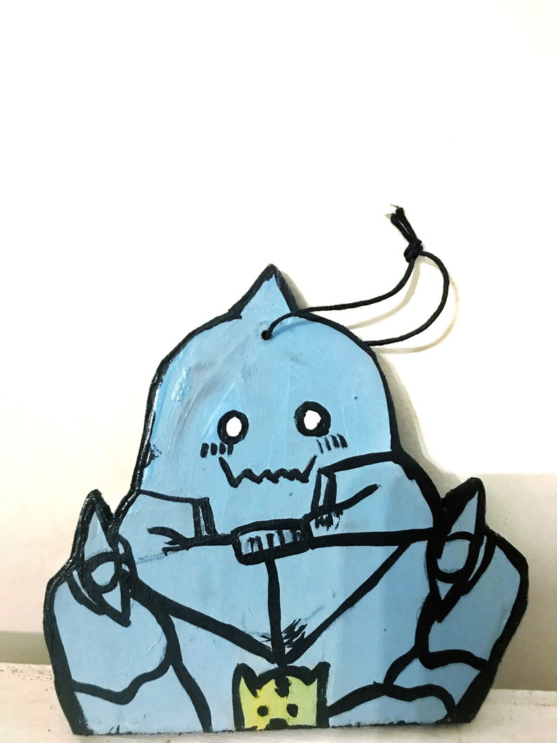 Alphonse Elric inspired handmade and painted ornament