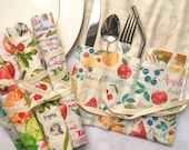 Cutlery Roll Wrap, Utensil Wrap, Travel, Picnic, Zero Waste, Eco Friendly, Reusable, Teacher gift, Mother 39 s Day gift