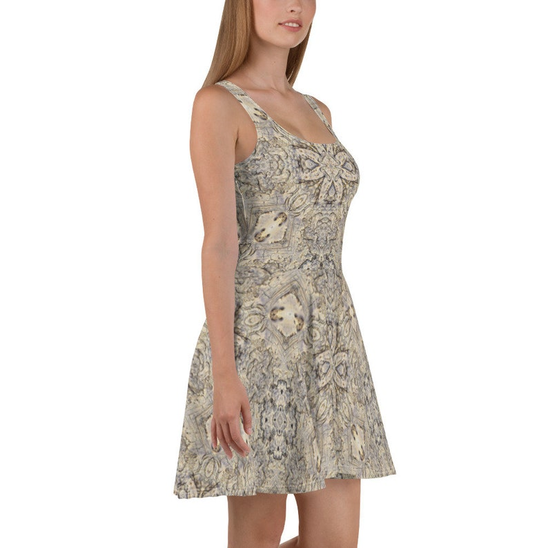 Bone Print Skater Dress by aegiandyad
