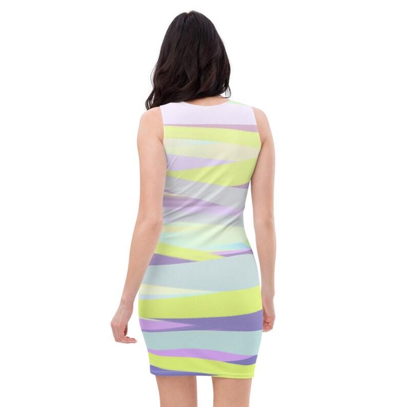 Purple Brush Stroke Sublimation Cut /& Sew Dress