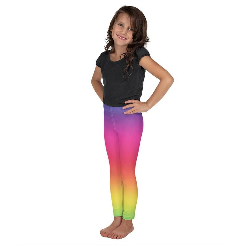 Kid/'s rainbow Leggings