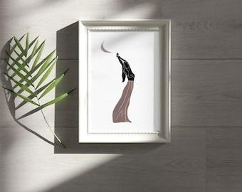 6. 'Pink Moon Girl' Print