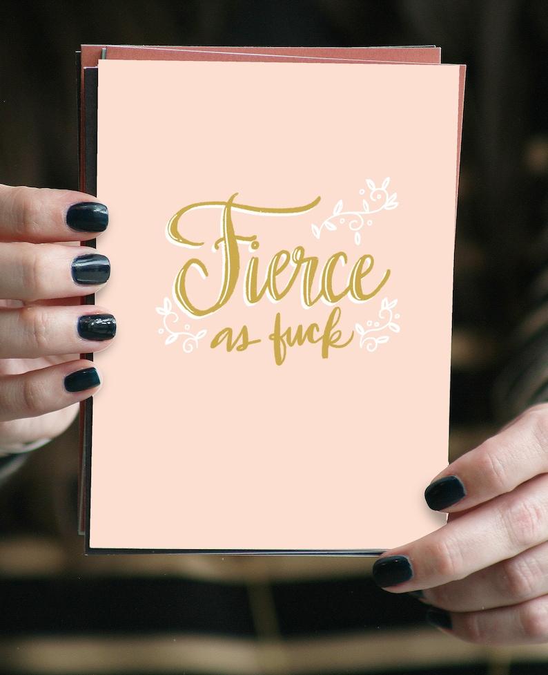 Fierce AF  Greeting card image 0