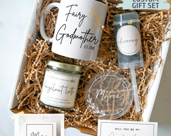 Personalized Godmother Gift Box | New Godmother Gift, Baptism Gift, Fairy Godmother, Godmother Proposal, Will You Be My Godmother, Godparent